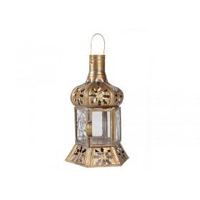 Lanterna Latão Marrocos Dirhan 20cm