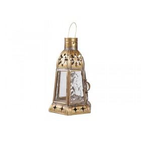 Lanterna Latão Marrocos Riad 20cm