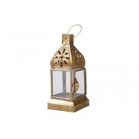 Lanterna Latão Marrocos Caleche 20cm