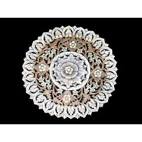 Mandala Flor de Lótus em Pedra