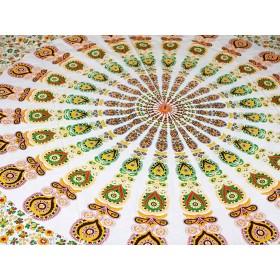 Manta Indiana Mandala Amarela