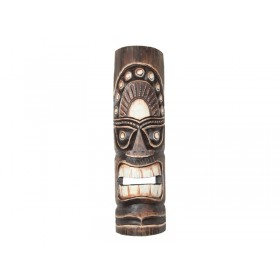 Máscara Hawaiana Tiki Crua 50cm