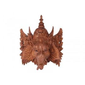 Máscara Ganesha Madeira Suar