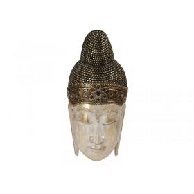 Máscara Buda Thai Gold Rosto Branco