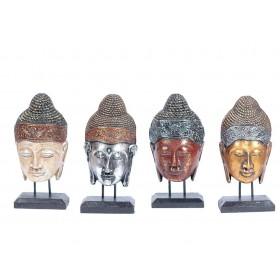 Máscara de Buda no Pedestal 30cm