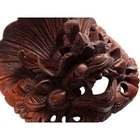 Máscara Barong Naga Mogno 20cm
