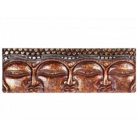 Painel 3 Faces de Buda Vermelho