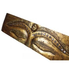 Painel Olhos de Buda Rococo Dourado 100 X 25cm