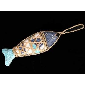 Peixe de Madeira com Fibra Ratan