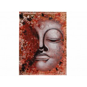 Quadro Rosto de Buda Rosê