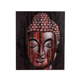 Quadro Rosto de Buda Vermelho