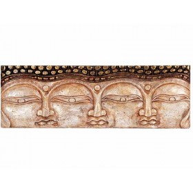Painel 3 Faces de Buda Branco