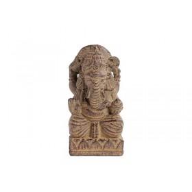 Ganesha Shanti em Pedra 15cm