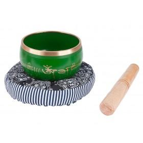 Kit Tigelas Tibetanas Verdes + Almofada