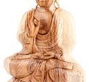 Escultura madeira Buda