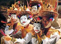 Máscara em Madeira Bali