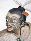 Decoração rosto Maori